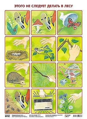 Обучающие плакаты Мозаика-Синтез Обучающий плакат Этого не следует делать в лесу