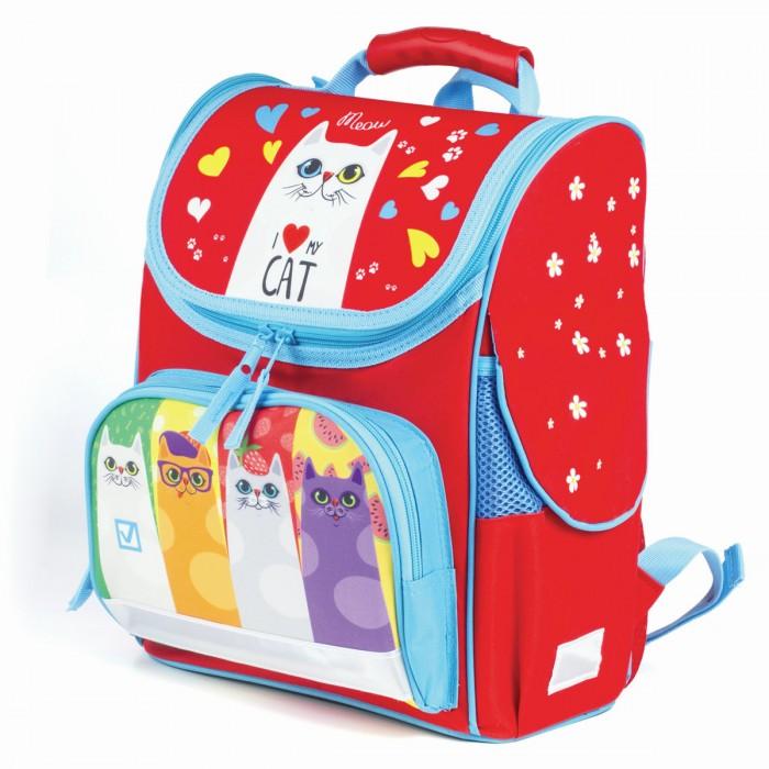 Купить Школьные рюкзаки, Brauberg Style Ранец c эргономичной спинкой Коты