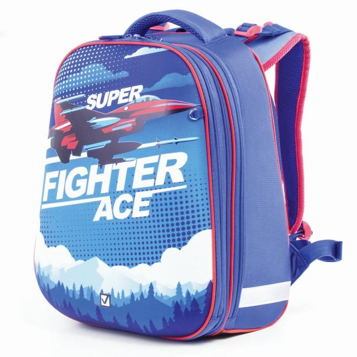 Купить Школьные рюкзаки, Brauberg Extra Ранец с 2-мя отделениями анатомическая спинка Истребитель