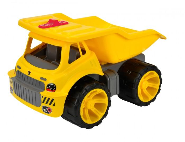 BIG Машинка Big Maxi TruckМашинка Big Maxi TruckМашинка BIG Maxi Digger станет отличным подарком для любого мальчишки.   Она обладает очень прочным корпусом из высококачественного пластика и позволяет пользоваться ею не только как игрушкой, но и как детской каталкой. Самосвал может поднимать кузов, и в него можно загружать что угодно, начиная с песка и заканчивая различными мелкими предметами.   Размер: 46х32х30 см<br>
