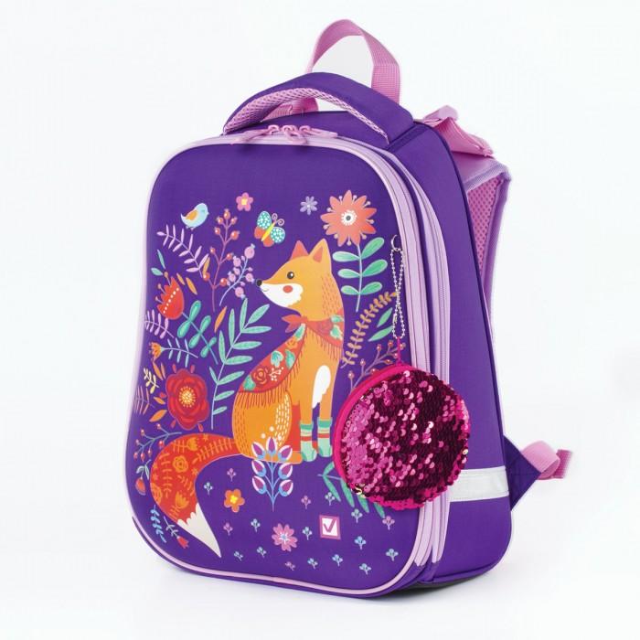 Купить Школьные рюкзаки, Brauberg Premium Ранец с 2-мя отделениями и брелоком для девочек Рыжая лиса