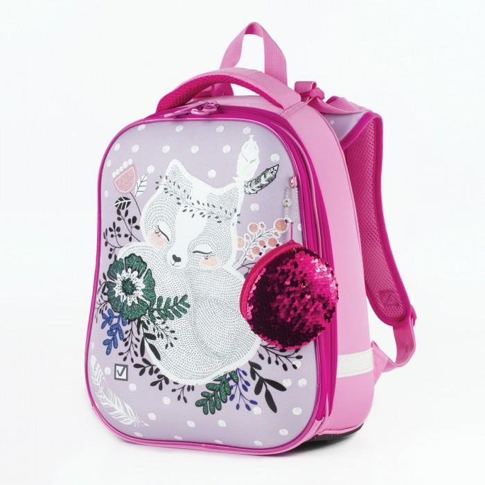 Картинка для Brauberg Premium Ранец с 2-мя отделениями и брелоком для девочек Лисичка