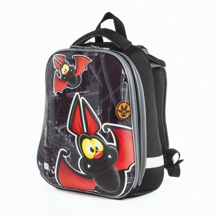 Купить Школьные рюкзаки, Brauberg Premium Ранец с 2-мя отделениями и брелоком для мальчиков Летучая мышь