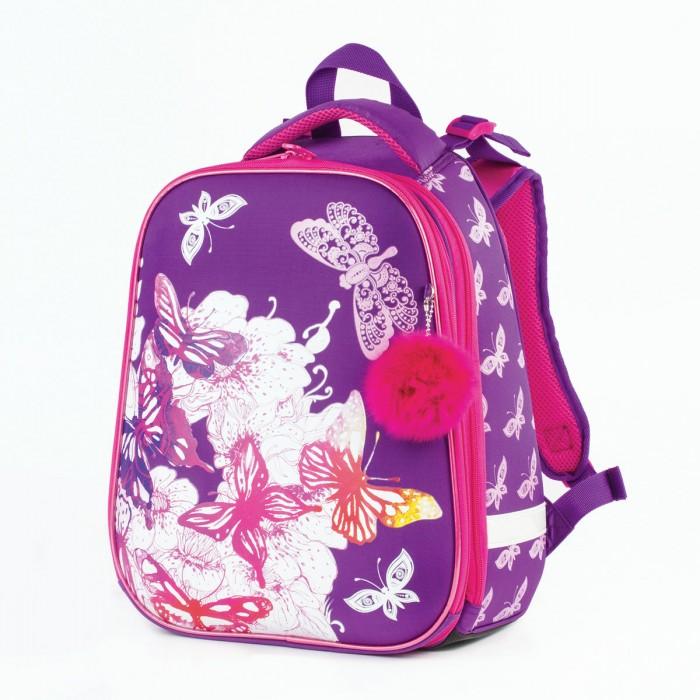Картинка для Brauberg Premium Ранец с 2-мя отделениями и брелоком для девочек Бабочки