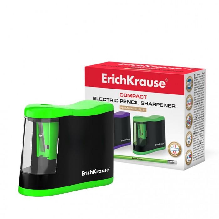Купить Канцелярия, Erich Krause Точилка электрическая Compact с контейнером
