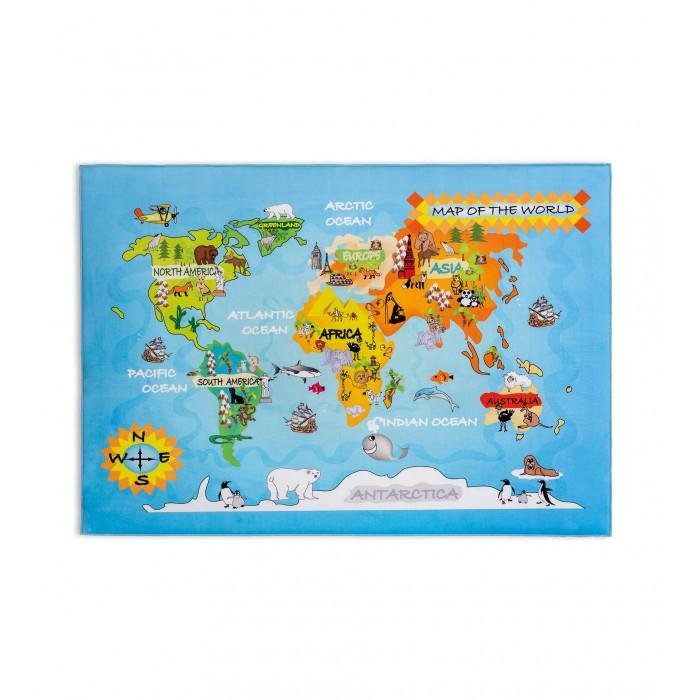 Купить Детские ковры, Cilek Ковер Soft Gravity World Carpet 100х150 см