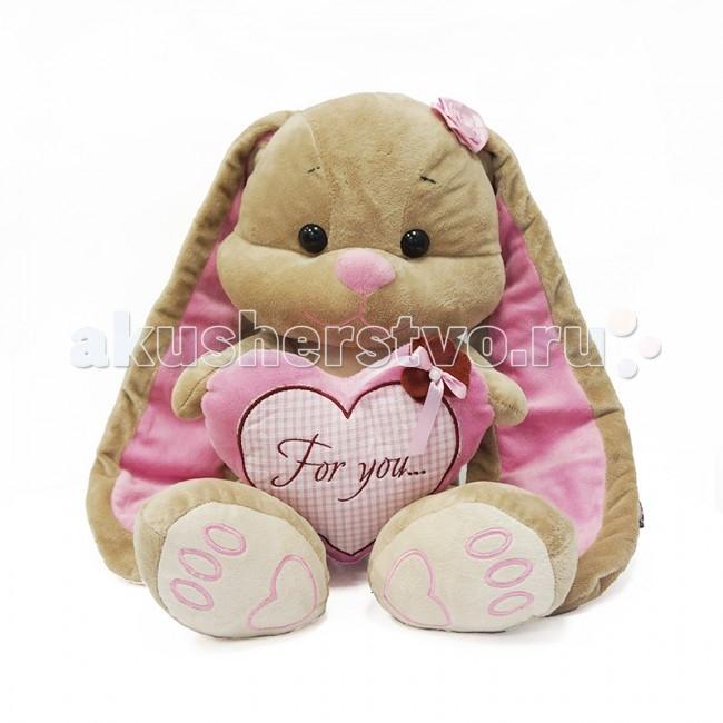 Мягкие игрушки Jack&Lin Зайка Лин с сердцем 35 см
