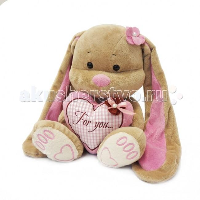 Мягкая игрушка Jack&Lin Зайка Лин с сердцем 50 см