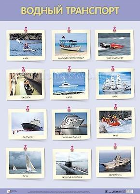 Обучающие плакаты Мозаика-Синтез Обучающий плакат Водный транспорт