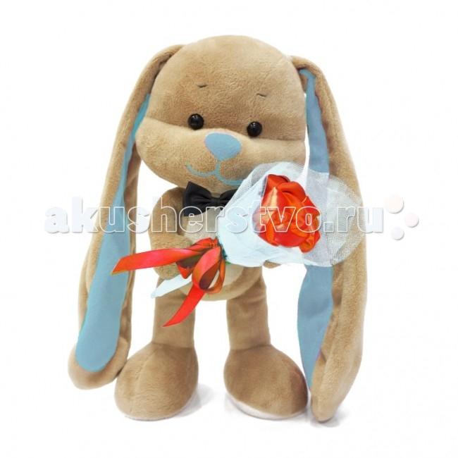 Мягкие игрушки Jack&Lin Зайчик Жак с букетом 25 см жак рейн в россии
