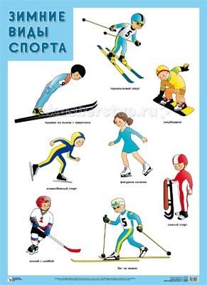 Обучающие плакаты Мозаика-Синтез Обучающий плакат Зимние виды спорта