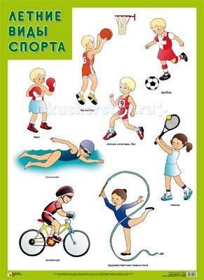 Обучающие плакаты Мозаика-Синтез Обучающий плакат Летние виды спорта