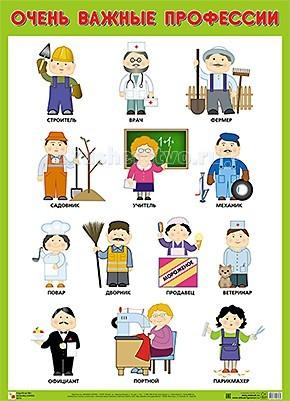 Обучающие плакаты Мозаика-Синтез Обучающий плакат Очень важные профессии