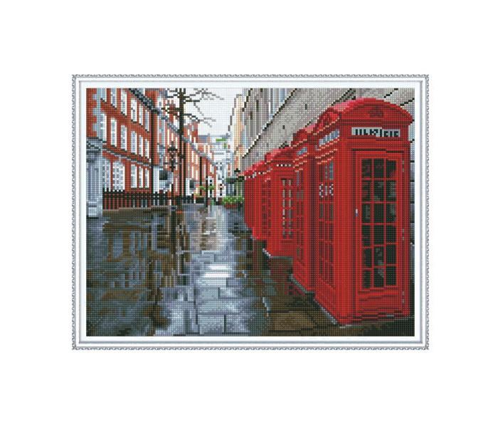 Molly Алмазная мозаика с нанесенной рамкой Улица Лондона (30 цветов)