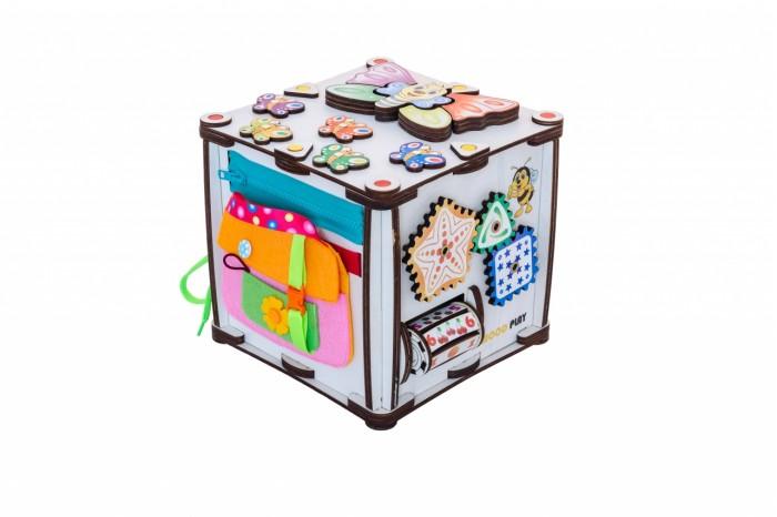 Деревянная игрушка Iwoodplay Бизиборд Развивающий куб Зверушки
