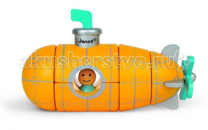 Конструктор Janod магнитный Подводная лодкамагнитный Подводная лодкаКонструктор магнитный Janod Подводная лодка состоит из 5 деревянных элементов. Все части подводной лодки соединяются друг с другом при помощи магнитов.  Основной цвет - желтый.   Такой конструктор станет отличным подарком для ребёнка, который только учится собирать конструкторы.<br>