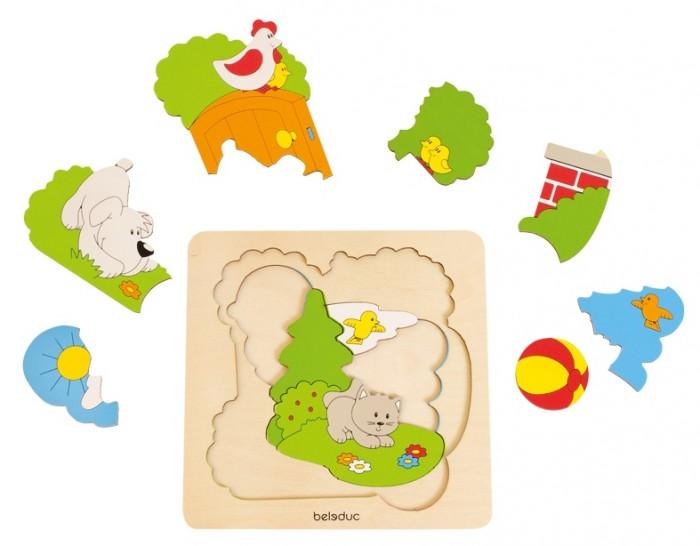 Купить Деревянные игрушки, Деревянная игрушка Beleduc Развивающий пазл Сад