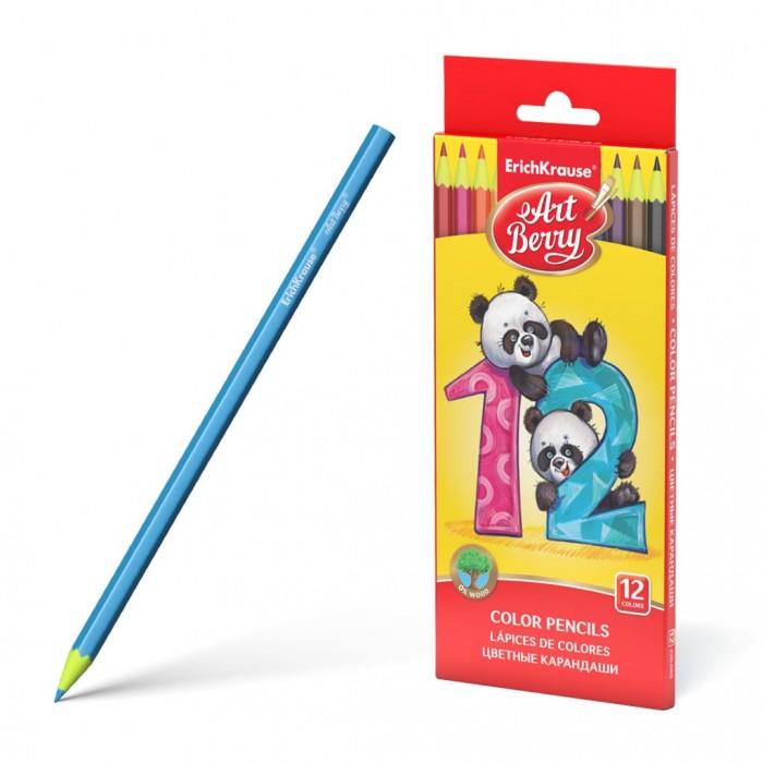 Карандаши, восковые мелки, пастель ArtBerry Пластиковые цветные карандаши шестигранные 12 цветов erichkrause пластиковые цветные карандаши шестигранные artberry 18 цветов 46429