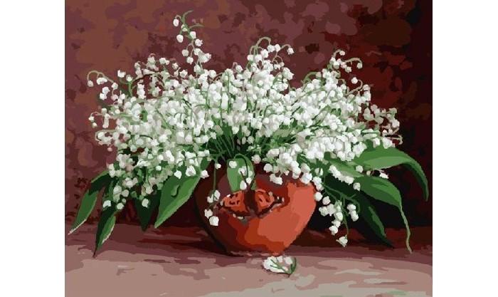 Купить Картины по номерам, Molly Картина по номерам Бузин Ландыши 40х50 см
