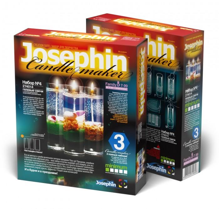 Фото - Наборы для творчества Josephin Гелевые свечи с ракушками Набор №4 набор азбука тойс свечи гелевые морской бриз св 0008