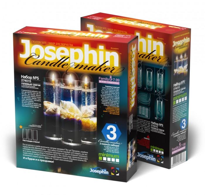 Фото - Наборы для творчества Josephin Гелевые свечи с ракушками Набор №5 набор азбука тойс свечи гелевые морской бриз св 0008