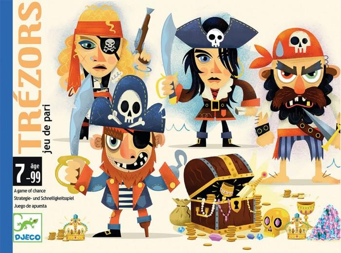 Настольные игры, Djeco Детская настольная карточная Игра Сокровища  - купить со скидкой