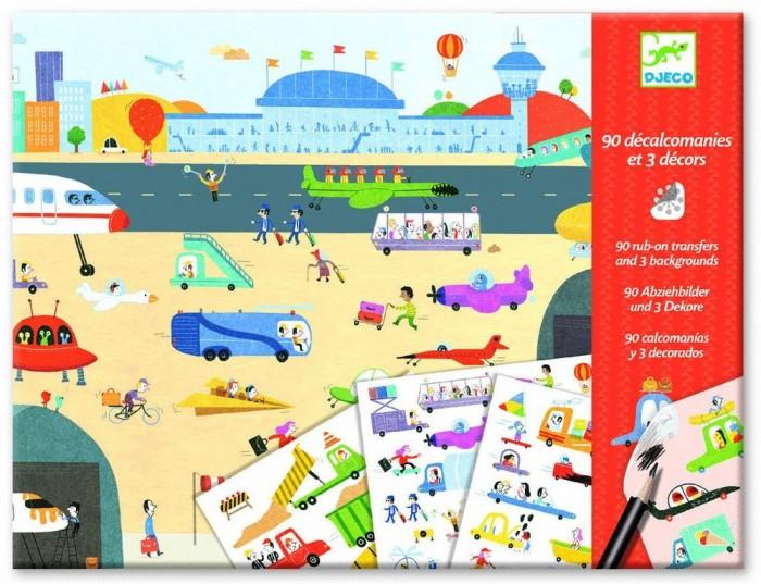 Картинка для Детские наклейки Djeco Набор для творчества На колесах
