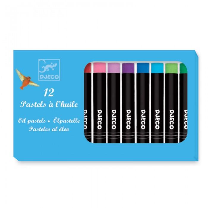 Купить Карандаши, восковые мелки, пастель, Djeco Набор пастельных карандашей 12 классических цветов