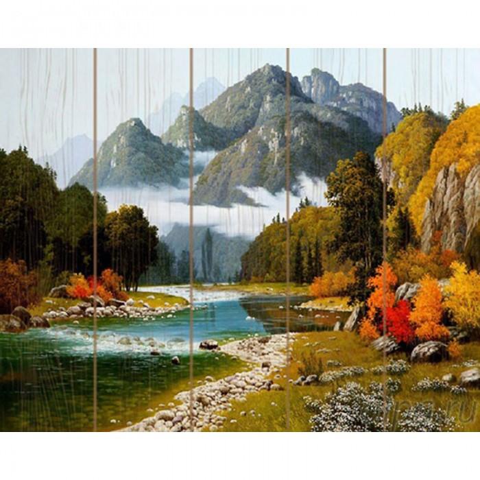 Купить Картины по номерам, Molly Картина по номерам на дереве Сунг ли Разноцветие осени 40х50 см