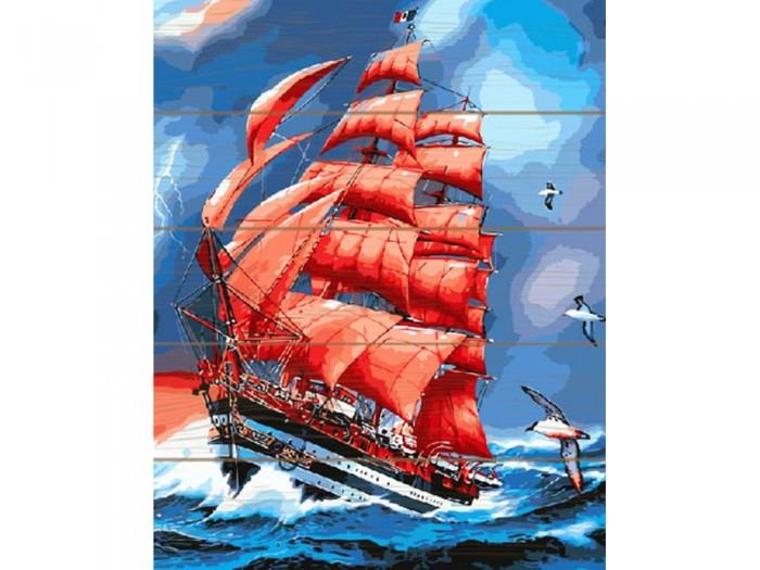Купить Картины по номерам, Molly Картина по номерам на дереве Алые паруса 40х50 см