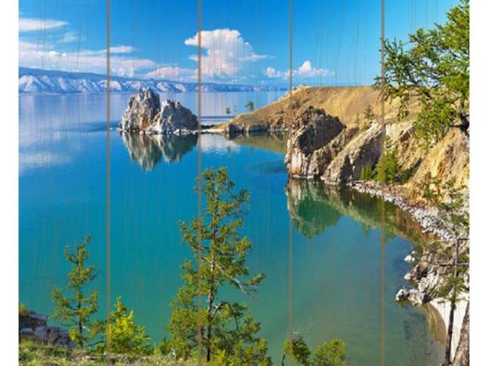 Molly Картина по номерам на дереве Озеро Байкал 40х50 см