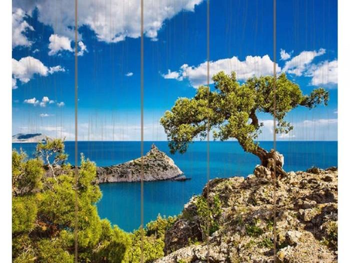Molly Картина по номерам на дереве Голубая Бухта 40х50 см
