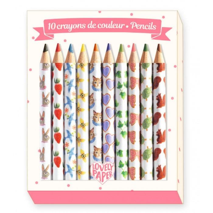 Купить Карандаши, восковые мелки, пастель, Djeco Набор карандашей 10 шт.