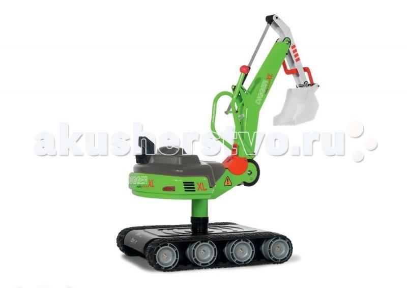 Каталка Rolly Toys Экскаватор RollyDigger XLЭкскаватор RollyDigger XLНовейшая модель Экскаватора RollyDigger XL — отличное приобретение техники для любого ребенка. Трактор-экскаватор подходит для использования в помещении и на улице.  Описание и характеристика: На колёсах – пластиковые ребристые накладки для лучшего сцепления с поверхностью (состав пластика не гремит по дорогам). Поворот корпуса вместе с ковшом на 360 градусов. Сидя на экскаваторе, ребенок захватывает, поднимает, удерживая, перевозит и высыпает самые необходимые ему грузы (песок, гравий, землю) – множество возможностей для сюжетно-ролевой игры позволят обогатить свой еще небольшой жизненный опыт.  Надёжная и устойчивая конструкция машины проста в управлении, безопасная и маневренная. Яркий игровой пластик создает иллюзию настоящей дорожно — транспортной или сельскохозяйственной техники.  Экскаватор поможет ребёнку стать еще более активным, развиться физически, освоить определенные навыки, отлично провести время и поднять настроение.  Отличное немецкое качество!  Размер: 96x45x87 см.<br>