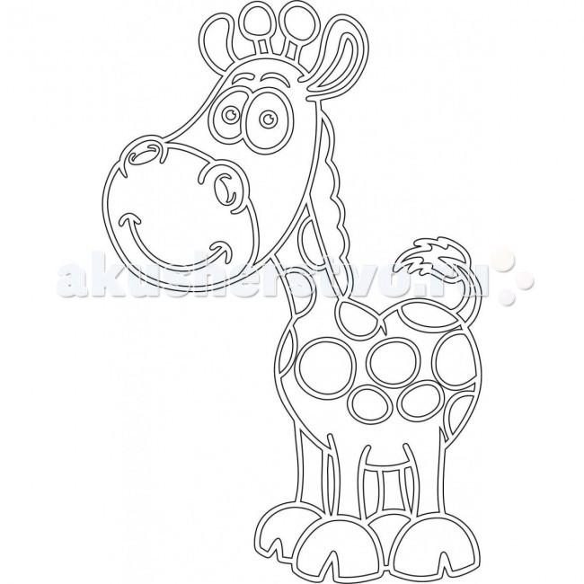 Наборы для творчества Kidsation Песочный трафарет Жираф
