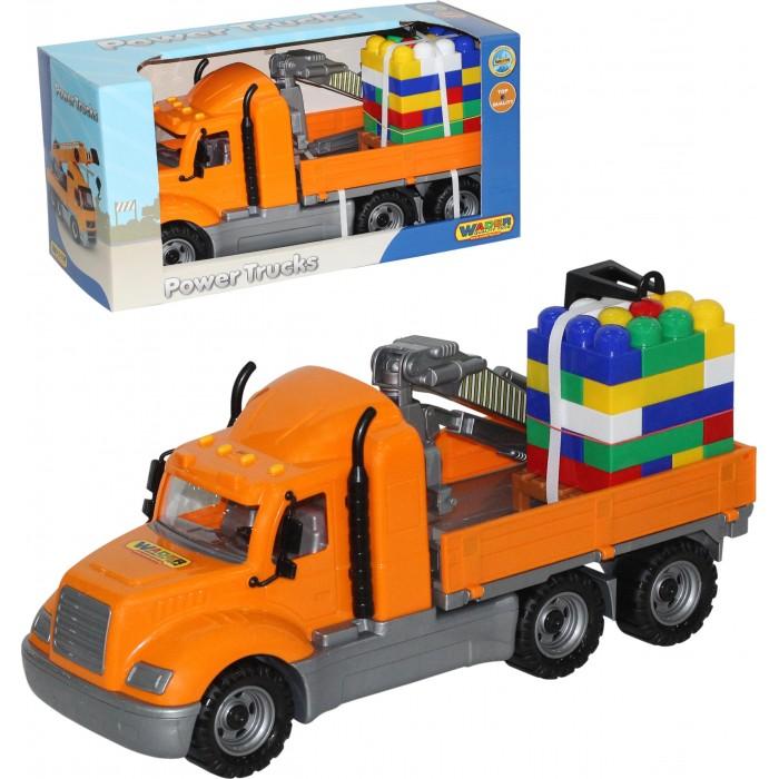 Полесье Автомобиль-кран с манипулятором Майк и конструктор Супер-Микс (30 элементов)