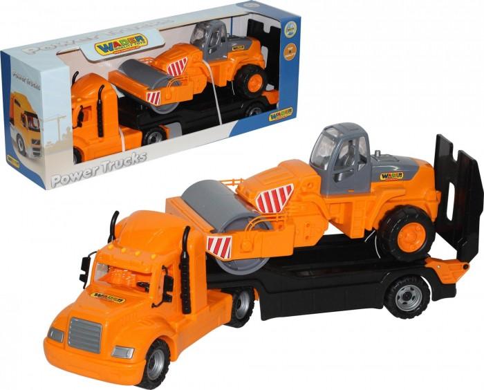 Купить Полесье Автомобиль-трейлер Майк и дорожный каток в интернет магазине. Цены, фото, описания, характеристики, отзывы, обзоры
