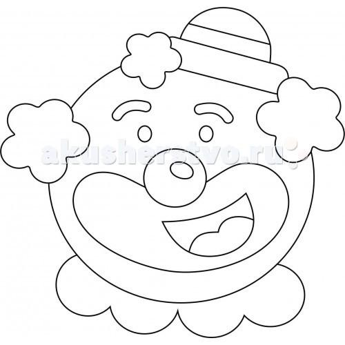 Наборы для творчества Kidsation Песочный трафарет с магнитом Клоун 3 обнаженный песочный