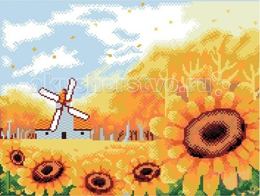 Творчество и хобби , Картины своими руками Molly Картины со стразами 2.8 мм Подсолнухи арт: 71019 -  Картины своими руками