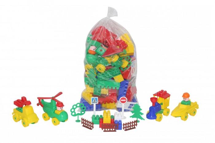 Купить Конструкторы, Конструктор Полесье Строитель в пакете (128 элементов)