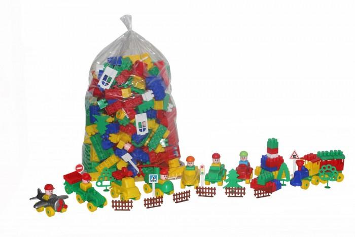 Конструкторы Полесье Строитель (348 элементов) конструктор строитель 68 элементов в ведре макси с крышк полесье 37190