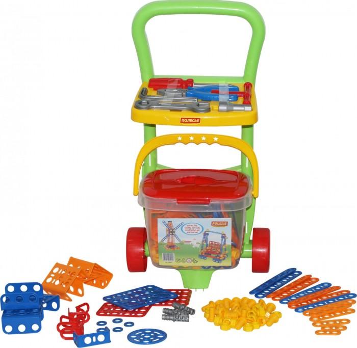 Фото - Конструкторы Полесье Тележка Caddie Набор инструментов (6 элементов) и Изобретатель (202 элемента) полесье набор игрушек для песочницы 468 цвет в ассортименте