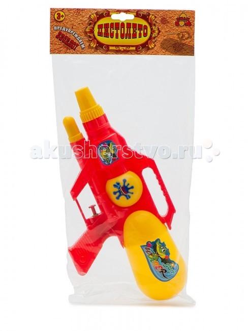 Игрушечное оружие Тилибом Водный бластер 30х15 см водный пистолет тилибом с 2 отверстиями 30 см