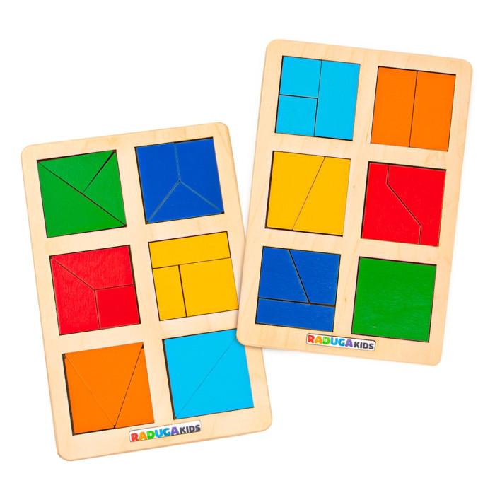 Деревянные игрушки Raduga Kids Головоломка Сложи квадрат Б.П. Никитин уровень 1
