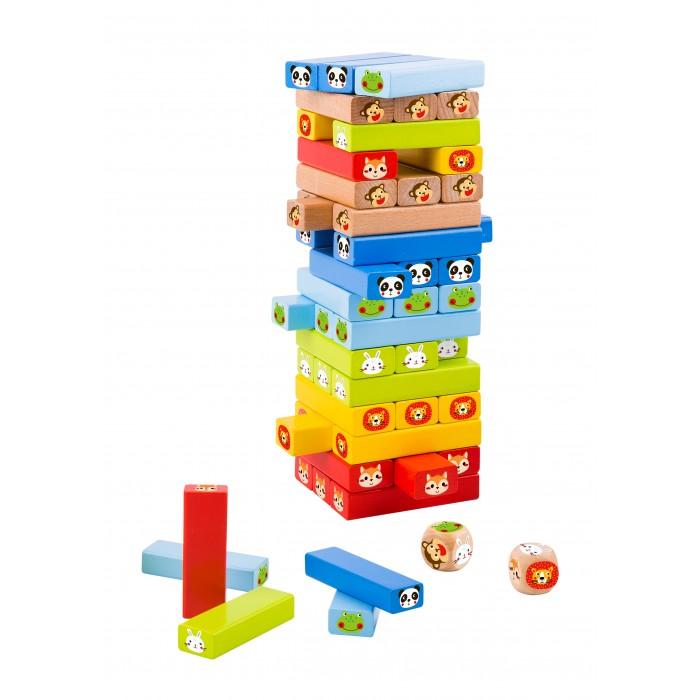Настольные игры Tooky Toy Игра Дженга-животные