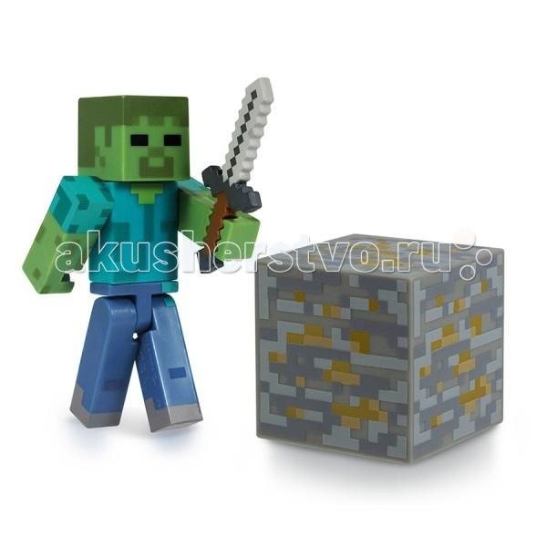 Игровые наборы Minecraft Игровой набор Зомби 3 предмета набор игровой c фигуркой и аксессуарами minecraft зомби