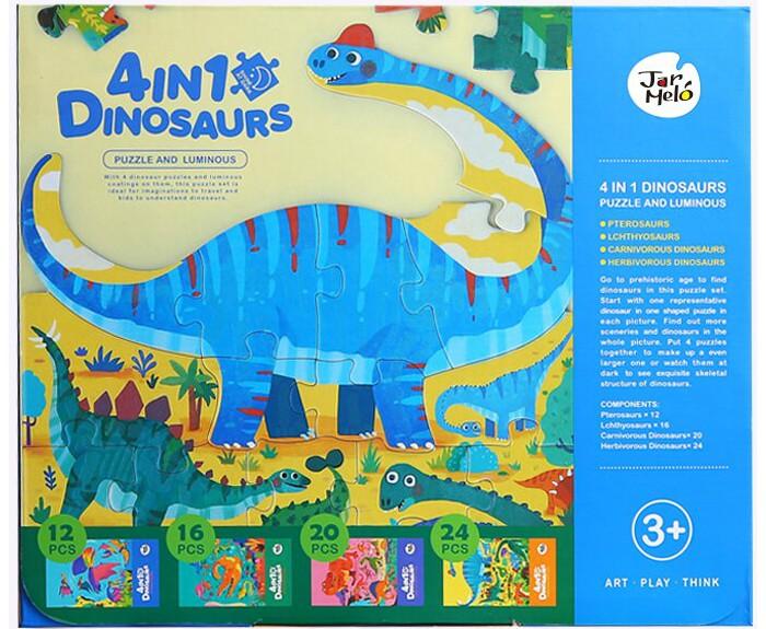 Фото - Пазлы Jar Melo Люминесцентный пазл Динозавры 4 в 1 sergio gaviria melo química para geología