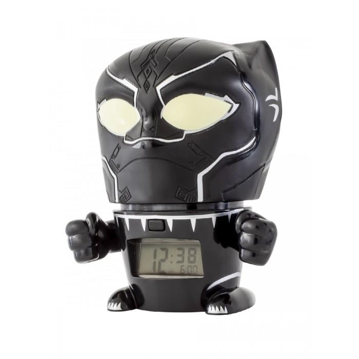 Часы Марвел (Marvel) Будильник BulbBotz минифигура Black Panther Чёрная пантера 14 см