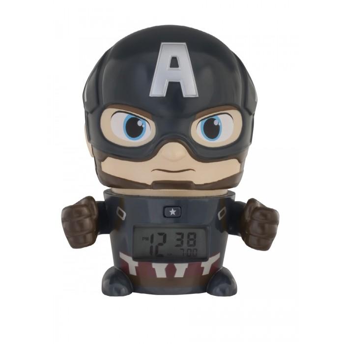 Часы Марвел (Marvel) Будильник BulbBotz минифигура Captain America Капитан Америка 14 см