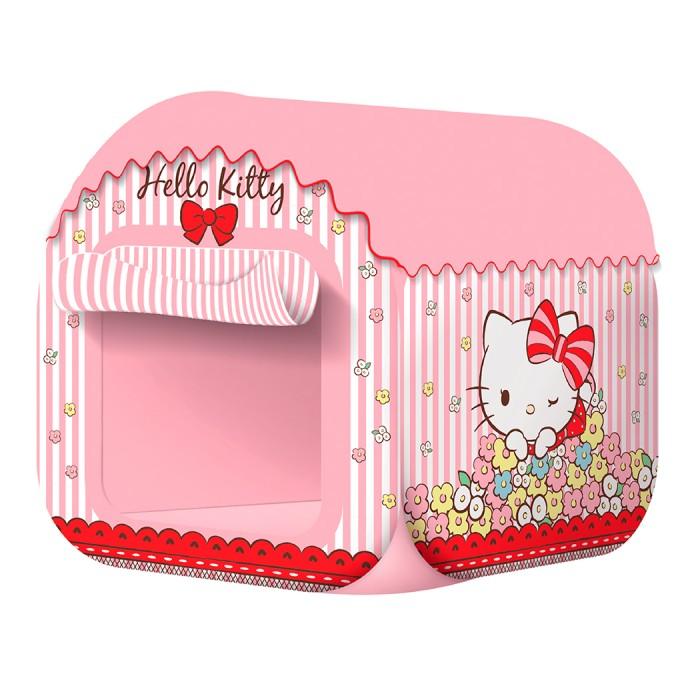 Фото - Палатки-домики ЯиГрушка Палатка Hello Kitty 80х80х95 см мяч яигрушка hello kitty 15 см розовый желтый